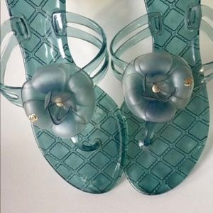 Chanel Jelly Sandals with Camellia flower